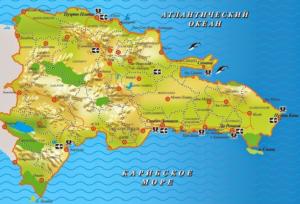 доминикана карта курортов